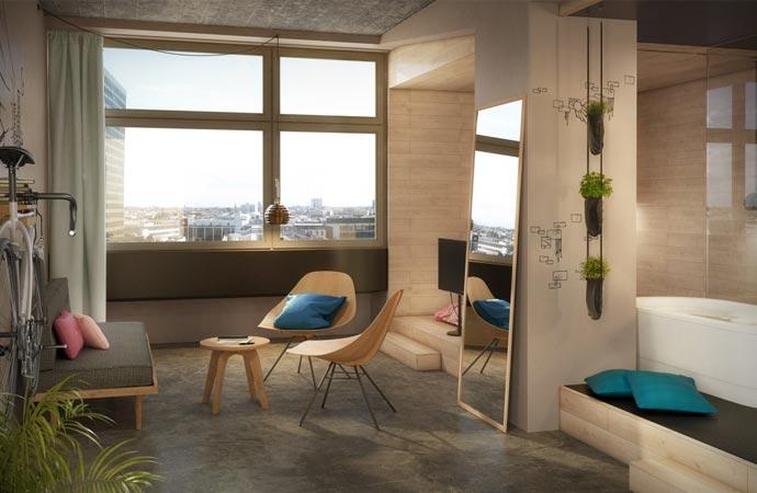 Hippes Doppelzimmer